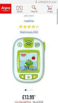 Leap frog leapband at Argos for £13.99