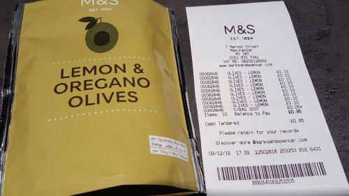M&S Lemon & Oregano Olives £1 for £0.10 (90% off!)