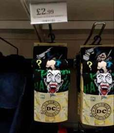 3 Pack DC Comics Villains pack of socks £2.99 instore @ Home Bargains