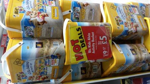 Bic Kids Alvin Activity Bucket Half Price, Now £5 @ Ryman Instore & Online (Free Store Delivery)