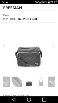 Gola retro messenger bags £5 then £4 with code. Free click & collect @ Shoeaholics
