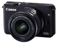 Canon EOS M10 Mirrorless Camera in Black + 15-45mm f/3.5-6.3 IS STM Lens + Manfrotto NX Pouch for £170.95 (using Amex + Canon Cashback) at Jessops (INSTORE)