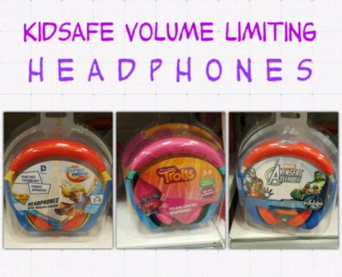 Kidsafe volume limiting headphones, various characters, £6.99 in Home Bargains