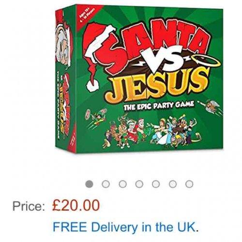 Santa vs Jesus party game £20 @ Amazon free delivery for prime