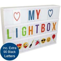 Cinema Light Box With Coloured Letters £15 @ The Works