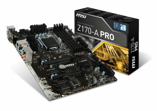 MSI Z170-A PRO Socket LGA1151 VGA DVI-D DisplayPort 8-channel HD Audio ATX Motherboard £87.59 @ Ebuyer