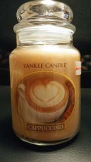 Cappuccino, sage large jar candles £11 at Yankee Candle outlet