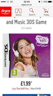 Nintendo ds music game only £1.99 Argos
