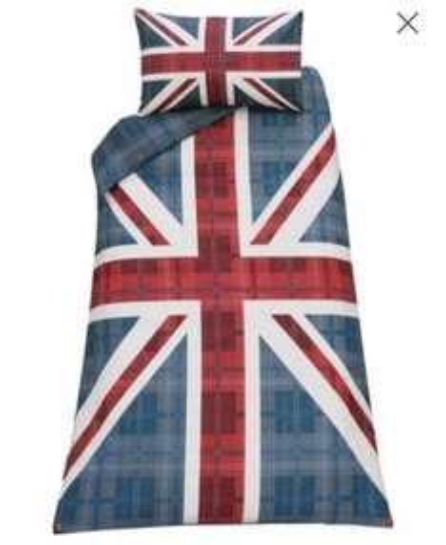 Union Jack single duvet £5.99 Argos