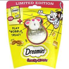 dreamies cat treats with toy £1 Poundworld