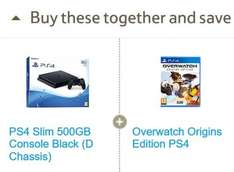 PS4 Slim 500GB + Overwatch Origins comes to £195.35 @ Tesco Direct