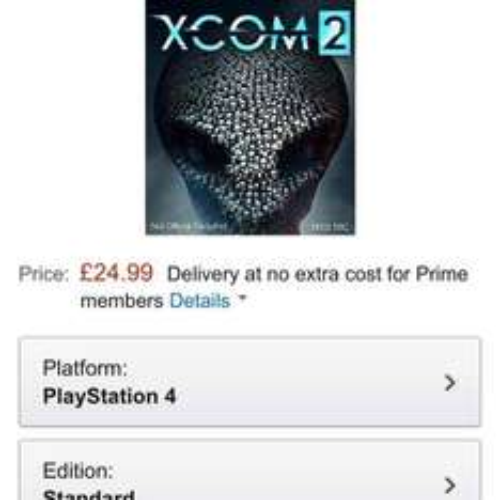 XCOM 2 PS4 £24.99 Amazon Prime Exclusive