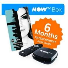 NOW TV Box with 6 Months Entertainment Pass @ Tesco Direct