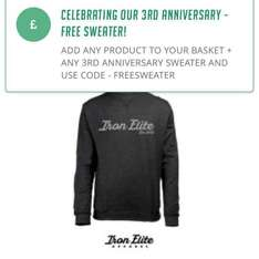 Free jumper / sweater with any other purchase @ iron elite apparel