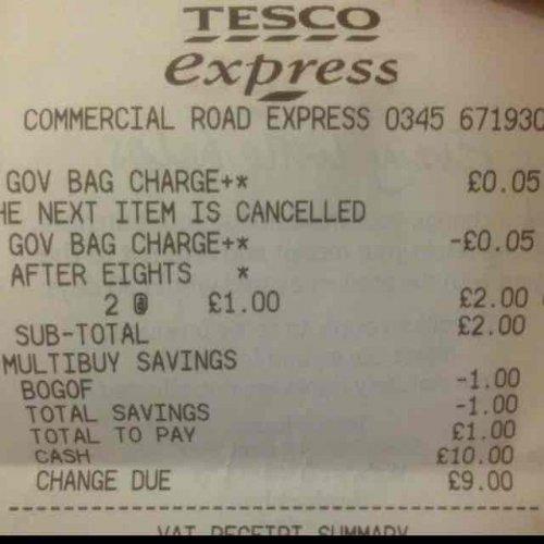 After Eights Mint Cartons 2 x 300G £1 (50p each) @ Tesco instore