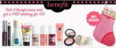 Get 4 x Benefit Mini's & FREE Christmas Stocking £15 @ Boots.com with FREE collection @ your local Boots Store!