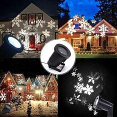 Waterproof Snowflakes LED Projector For Indoor Outdoor Christmas Decoration £25.98 Sold by podofoUK and Fulfilled by Amazon