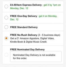 Free £1 Amazon digital video credit with prime purchases