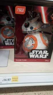 Talking plush of Star Wars BB-8 in store Tescos (Stafford) reduced from £29.95 to £14.95