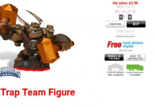skylander trap team figures £3.99 in homebargins