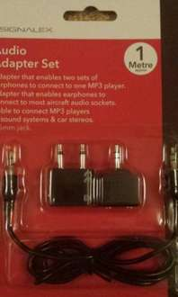For all the couples who just have to do everything TOGETHER. Headphone splitters £1 instore @ Poundland