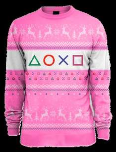 PlayStation Pink Xmas Jumper (All Sizes) £12.85 Delivered @ Shopto