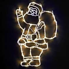 Indoor Santa Light Silhouette - Clear was £3.99 now £1.99 @ B&M Bargains