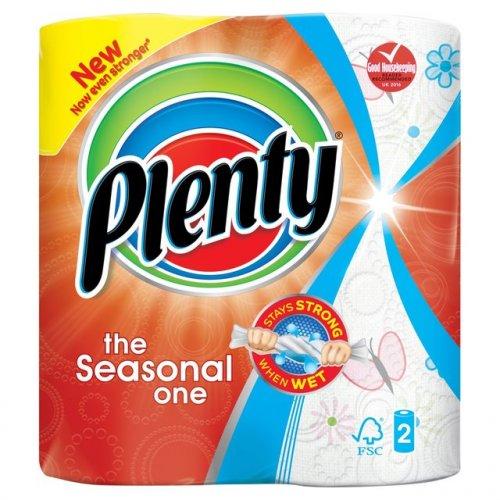 Plenty Kitchen Roll Fun Prints 2 pack. Half Price. 90p @ Ocado