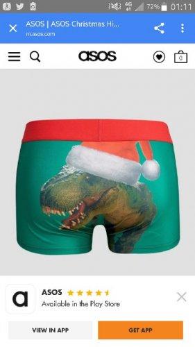 Xmas boxers £5.00 free delivery @ asos various prints
