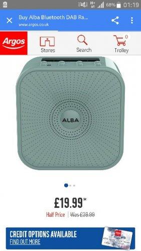 Alba bluetooth DAB radio free C+C 19.99 @ argos