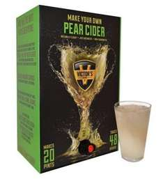 Victors Drinks 20 Pint Kit (Make Your Own) PEAR CIDER £10 (was £25) P&P from £5.99 (per order, get 25kg of items, but possible £6.32 TCB cashback) @ Approved Food