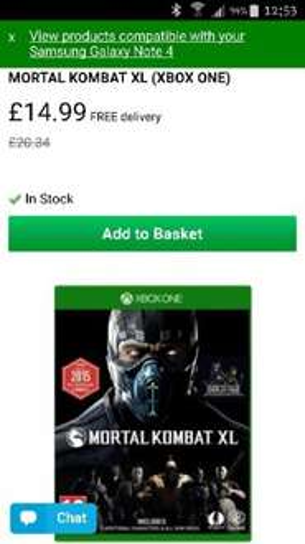 Mortal kombat XL xbox one £14.99 @ myMemory