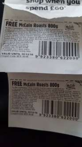 FREE McCain Roasts 800g (cashpoint coupon) @ Sainsbury's
