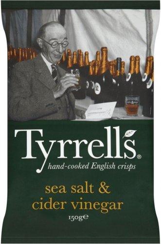 Tyrrell's Sea Salt & Cider Vinegar Crisps (150g) was £1.99 now 2 packs for the price of 1 @ Waitrose