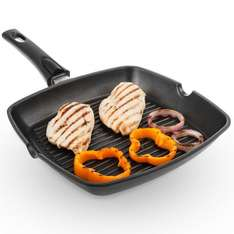 Savisto Non-Stick Cast Aluminium Griddle Grill Pan for All Hobs Inc. Induction 28cm Square Pan ¦ Detachable Handle ¦ 2 Year Warranty ONLY £13.99 @ savistouk / EBay with Free postage