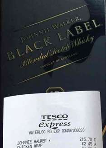 Johnnie Walker Black Label 70cl RTC £15.70 at Tesco Express - Waterloo, London