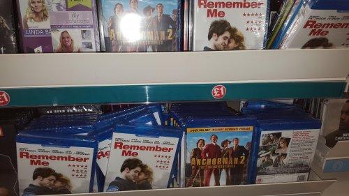Anchorman 2 / Remember Me blu ray. £1 @ poundland