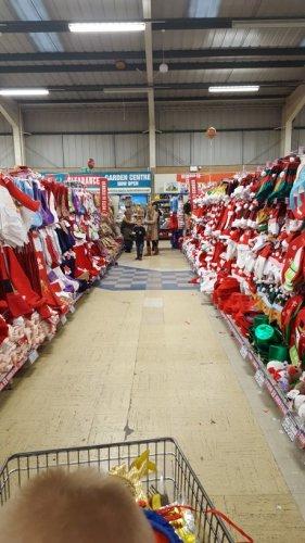 massive sale on christmas items from 50p Poundland BURTON ON TRENT