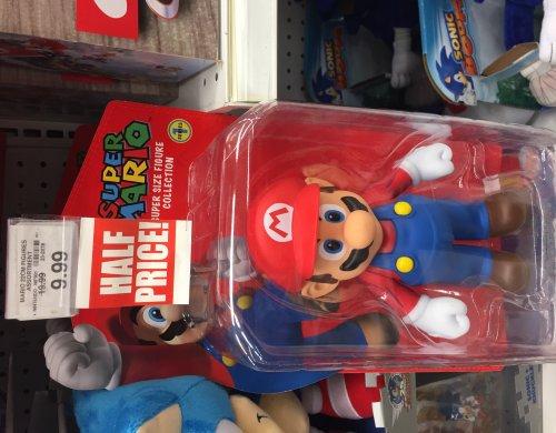 "Mario / yoshi figure 8.5"" tall £9.99 at toys'r'us Half price"