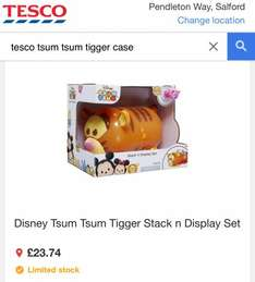 Tsum Tsum Tigger Stack 'n Display Set - Price Glitch - 2 for £23.47 at Tesco Stores