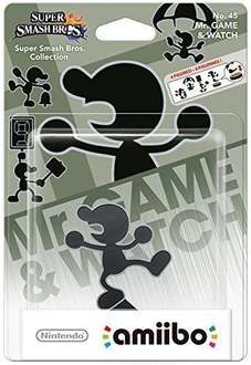Mr Game and Watch Amiibo (£6.95 at Argos/eBay)
