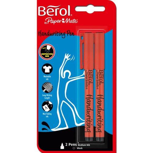 Berol Handwriting Pens Black 2 pack @ Tesco