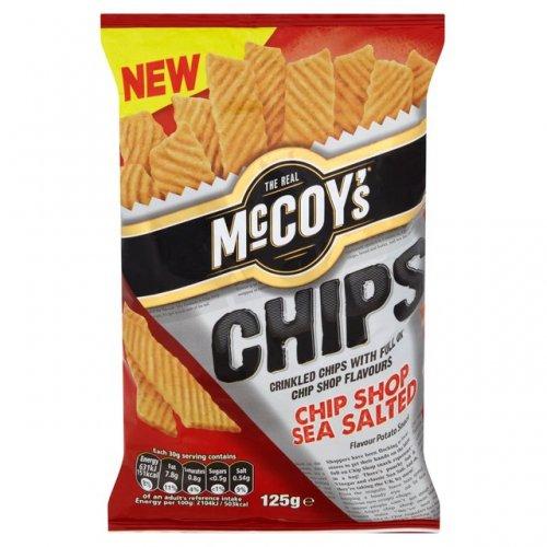 """McCoy's Chip Shop Sea Salted """"Chips"""" 125g Bag 49p @ Heron"""