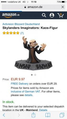 Skylanders Imaginators Figures Kaos, Solar Flare Aurora, Mystical bad JuJu, Others ar amazon.de - £9