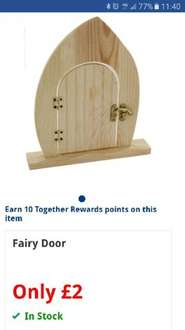 fairy wooden door for your little ones to decorate only £2 @ The Works - Free c&c