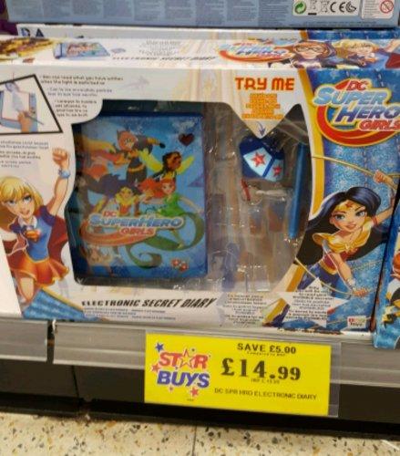 DC Superhero Girl electronic secret diary £14.99 in Home Bargains