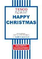 Tesco value Christmas Card download