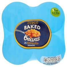 Tesco Baked Beans 420G X 4 Pack down to just 99p!