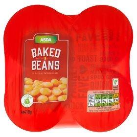 Baked bean wars! Asda Chosen By You Baked Beans 4 x 410G Pack 98p @ Asda