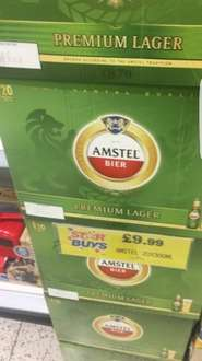 Amstel 20 Bottles £9.99 at home bargains. (Star Buy)